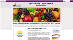 Nutrition Services website